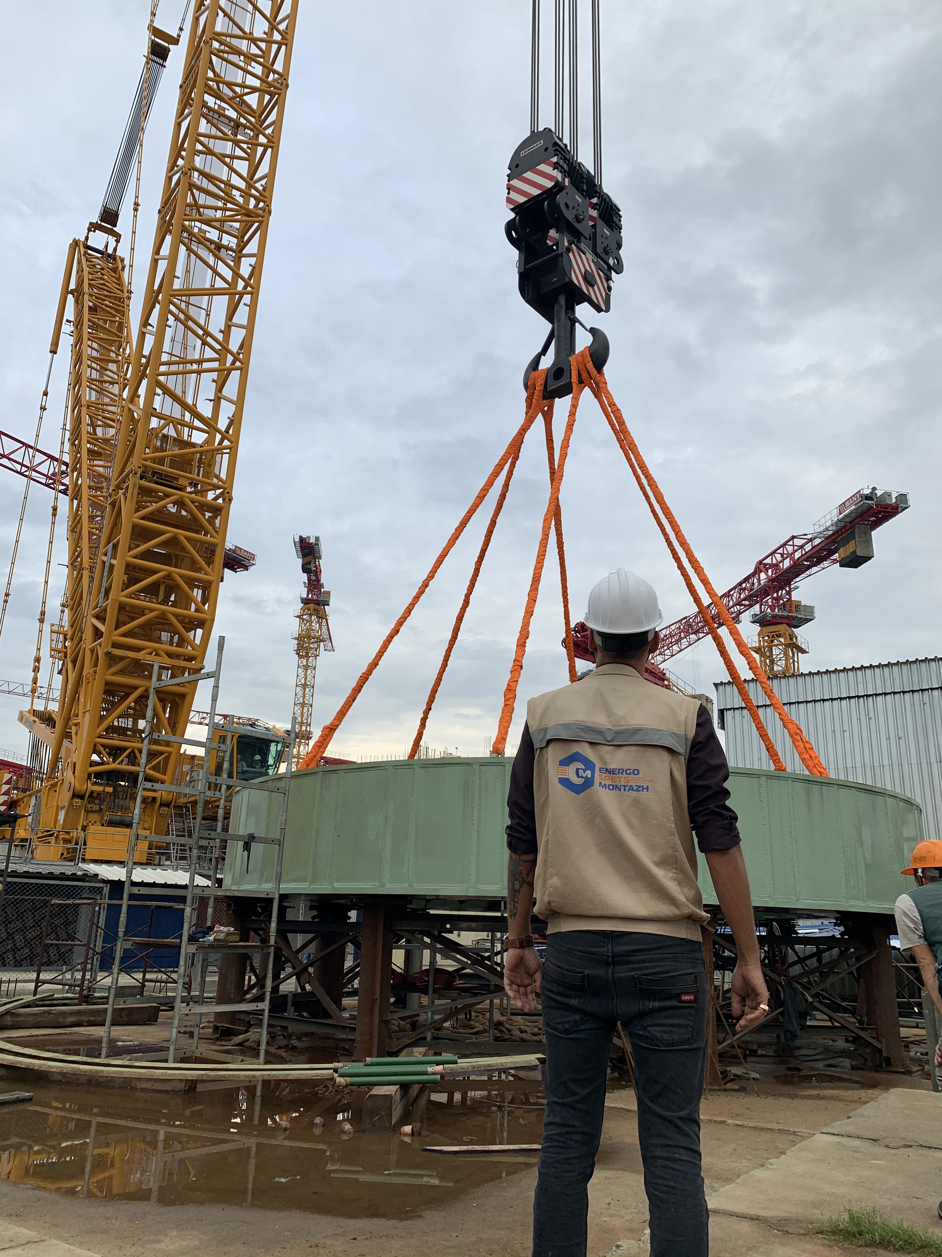 Reactor support truss installed in the design position on the Rooppur NPP Unit 1 (Bangladesh)