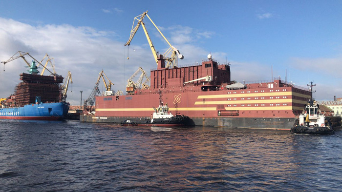 The Akademik Lomonosov completed charging its nuclear reactors with fuel