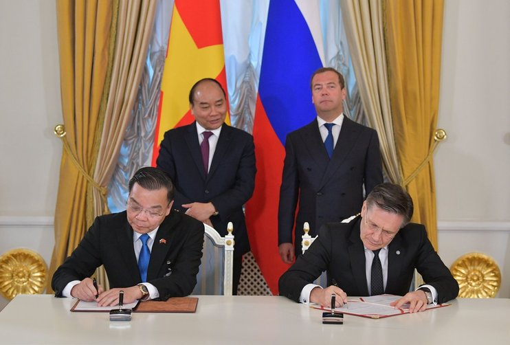 Russia and Vietnam signed an MoU on the implementation of Centre for Nuclear Science and Technology